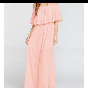 MUMU bridesmaid maxi dress small